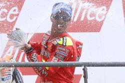 Podium: race winner Marco Melandri, Fortuna Honda