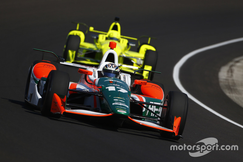 Sebastian Saavedra, Juncos Racing Chevrolet, Simon Pagenaud, Team Penske Chevrolet