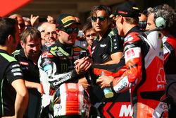 1. Jonathan Rea, Kawasaki Racing; 2. Chaz Davies, Ducati Team