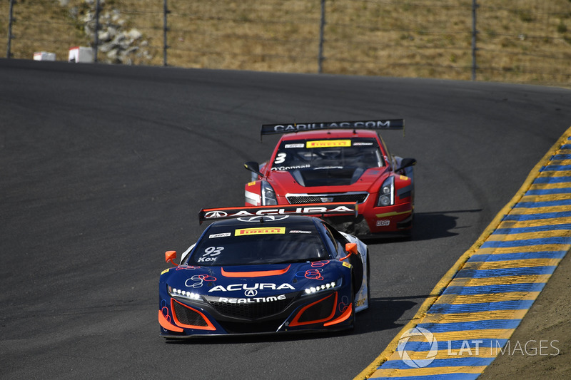 #93 RealTime Racing Acura NSX GT3: Peter Kox, #3 Cadillac Racing Cadillac ATS-VR GT3: Johnny O'Connell