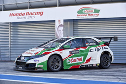 La voiture de Norbert Michelisz, Honda Racing Team JAS, Honda Civic WTCC