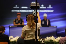 Cameraman in the Press Conference