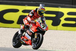 Chaz Davies, Ducati Team avec un problème mécanique