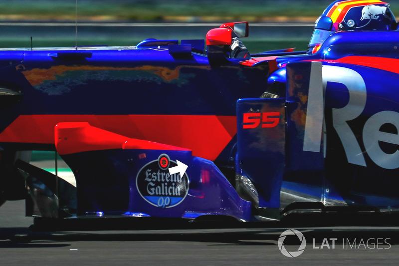Déflecteurs de la Scuderia Toro Rosso STR12