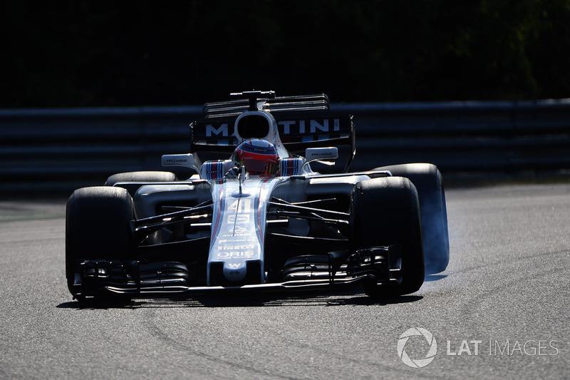 Лука Гіотто, Williams FW40, блокує колесо