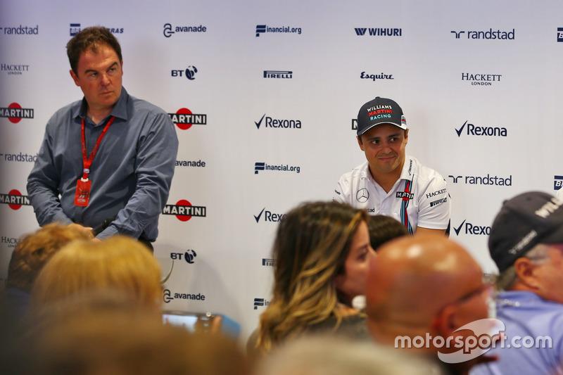 James Allen, Felipe Massa, Williams and Claire Williams, Williams Takım Patronu Vekili; Massa sezon sonunda emekliliğini açıklarken