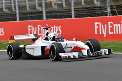 F1 Experiences 2-Seater passenger Rupert Grint, with Patrick Friesacher, F1 Experiences 2-Seater driver