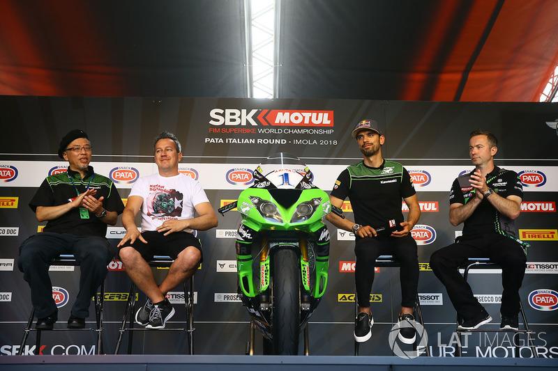 Ken Ondo, Steve Guttridge, Manuel Puccetti, Kenan Sofuoglu, Kawasaki Puccetti Racing