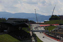 A scenic rear view of the start