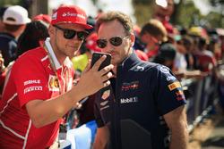 Christian Horner, Red Bull Racing Takım Patronu, taraftarlar ile