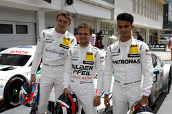 Top3 after qualifying, Pole position for Lucas Auer, Mercedes-AMG Team HWA, Paul Di Resta, Mercedes-AMG Team HWA, Pascal Wehrlein, Mercedes-AMG Team HWA