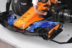 McLaren MCL33, detalle del ala frontal nueva versión
