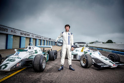 Guy Martin, with a Williams FW08C and FW08B