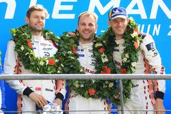 LMGTE Pro podium: winners Michael Christensen, Kevin Estre, Laurens Vanthoor, Porsche GT Team