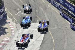 Josef Newgarden, Team Penske Chevrolet, Ed Jones, Chip Ganassi Racing Honda, Alexander Rossi, Andretti Autosport Honda, Matheus Leist, A.J. Foyt Enterprises Chevrolet