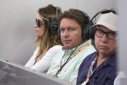 TV Presenter and Chef James Martin and his partner Louise Davies visit the Mercedes garage