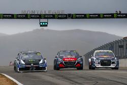 Petter Solberg, PSRX Volkswagen Sweden, Sébastien Loeb, Team Peugeot Total, Mattias Ekström, EKS Audi Sport