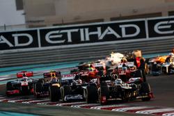 Kimi Raikkonen, Lotus E20 F1 Team, Pastor Maldonado, Williams FW34, Mark Webber, Red Bull Racing RB8, y Jenson Button, McLaren MP4-27