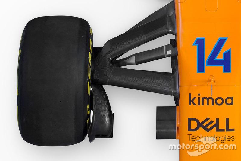 Передняя подвеска McLaren MCL33