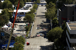 Sébastien Buemi, Renault e.Dams, locks up at the start of the race
