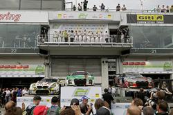 Podium: 1. #29 Audi Sport Team Land-Motorsport, Audi R8 LMS: Christopher Mies, Connor De Phillippi, Markus Winkelhock, Kelvin van der Linde; 2. #98 Rowe Racing, BMW M6 GT3: Markus Palttala, Nicky Catsburg, Richard Westbrook, Alexander Sims; 3. #9 Audi Spor