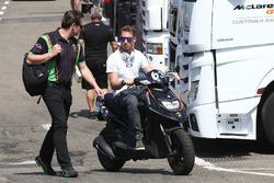 #63 GRT Grasser Racing Team Lamborghini Huracan GT3: Mirko Bortolotti and team owner Gottfried Grasser