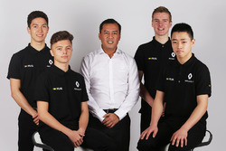 Renault Sport Academy Drivers with Renault Sport Academy Director, Jack Aitken, Jarno Opmeer, Sun Yue Yang
