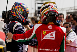Race winner Artem Markelov, RUSSIAN TIME, third place Charles Leclerc, PREMA Racing