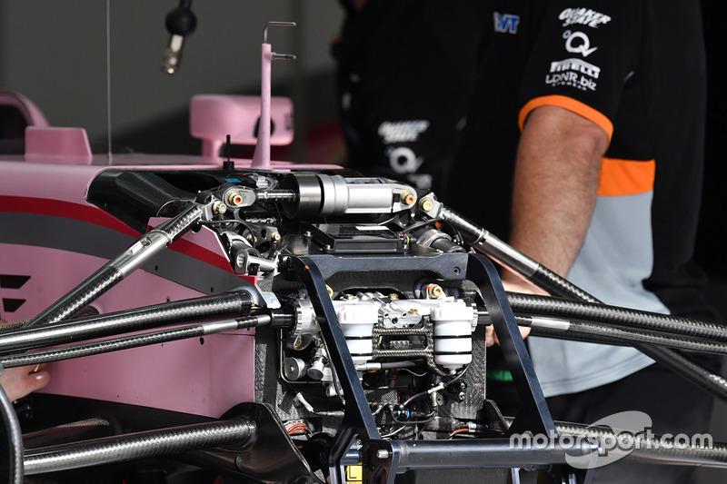 Suspensión delantera del Force India VJM10