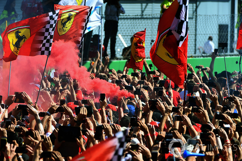 Fans and flags and flares
