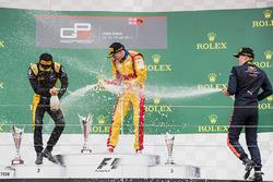 Podyum: Yarış galibi Giuliano Alesi, Trident, 2. Jack Aitken, ART Grand Prix, 3. Niko Kari, Arden International