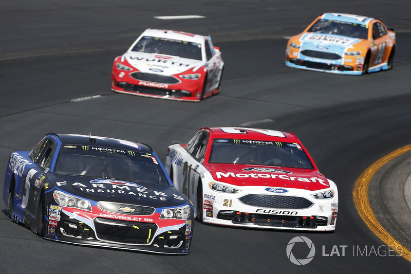 Kasey Kahne, Hendrick Motorsports Chevrolet Ryan Blaney, Wood Brothers Racing Ford