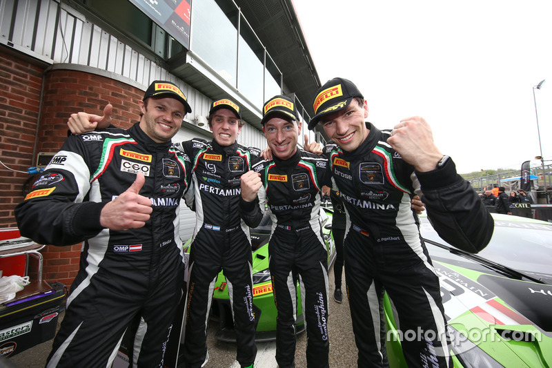 Race winners Christian Engelhart, Mirko Bortolotti, GRT Grasser Racing Team, third place Ezequiel Perez Companc, Norbert Siedler, GRT Grasser Racing Team