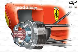 Ferrari F2003-GA (654) 2003 front suspension and brake