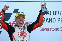 Podium: race winner Takaaki Nakagami, Idemitsu Honda Team Asia