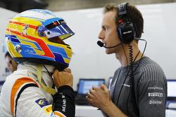 Fernando Alonso, McLaren, Mark Temple, ingénieur de course, McLaren