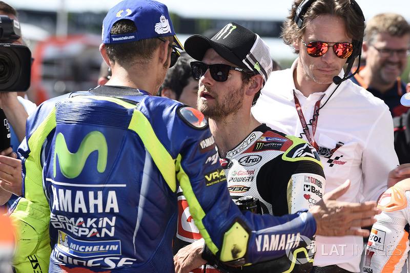 Друге місце у кваліфікації Валентино Россі , Yamaha Factory Racing, перше місце у кваліфікації серед
