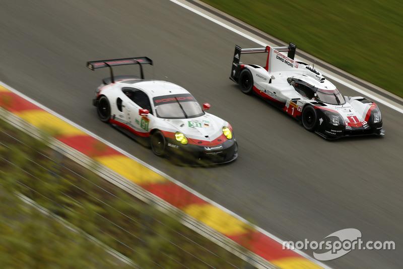 #1 Porsche Team Porsche 919 Hybrid: Neel Jani, Andre Lotterer, Nick Tandy, #91 Porsche Team Porsche