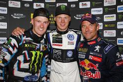 Johan Kristoffersson, Volkswagen Team Sweden, Andreas Bakkerud, Hoonigan Racing Division Ford, Sébastien Loeb, Team Peugeot Hansen