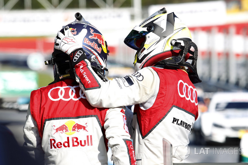 Mattias Ekström, Audi Sport Team Abt Sportsline, Audi A5 DTM y Nico Müller, Audi Sport Team Abt Sportsline, Audi RS 5 DTM