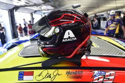 Nicky Hayden decal on the car of Dale Earnhardt Jr., Hendrick Motorsports Chevrolet