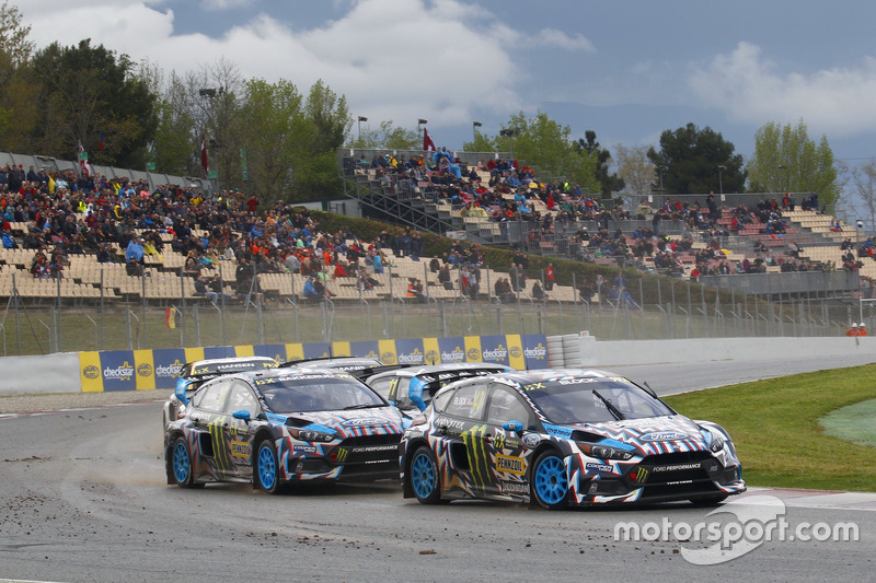 Ken Block, Hoonigan Racing Division, Ford Focus RSRX; Andreas Bakkerud, Hoonigan Racing Division, Ford Focus RSRX