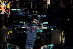 Valtteri Bottas, Mercedes AMG F1 W08, llega al Parc Ferme