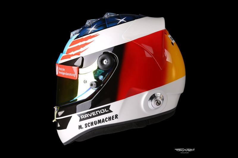 Helm Design gallery mick schumacher s special helmet design for spa demo