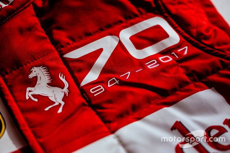 Ferrari race suit for the 70th anniversary