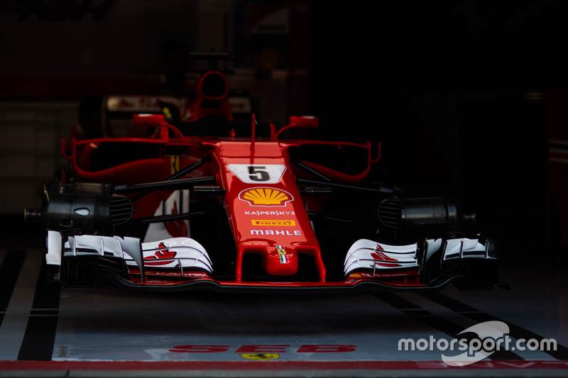 The car of Sebastian Vettel, Ferrari