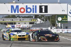 #86 Michael Shank Racing Acura NSX: Oswaldo Negri Jr., Jeff Segal, Tom Dyer, #96 Turner Motorsport BMW M6 GT3: Jens Klingmann, Justin Marks, Jesse Krohn