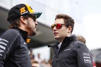 Fernando Alonso, McLaren, e Stoffel Vandoorne, McLaren