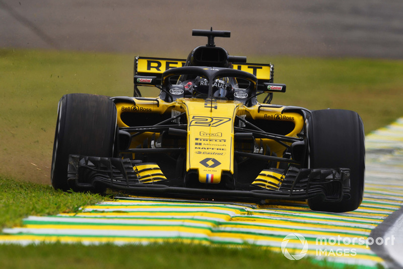 Nico Hulkenberg, Renault Sport F1 Team R.S. 18 sort large avant son accident