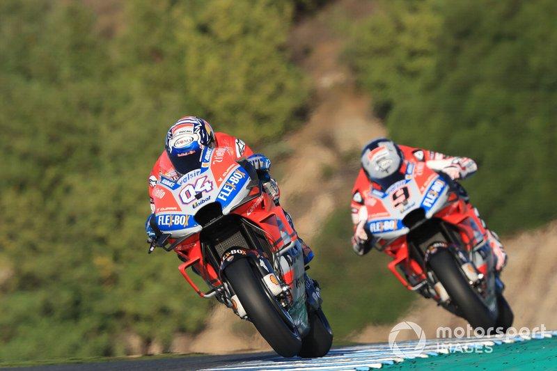 Andrea Dovizioso et Danilo Petrucci (Ducati Team)